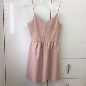 Zara Pink Pleather collection dress